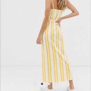 ASOS DESIGN belted maxi dress in stripe